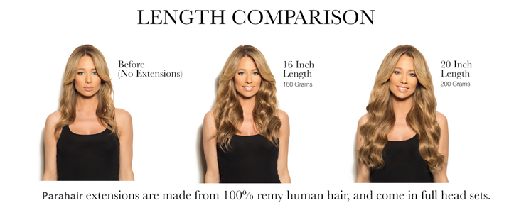 parahair length comparison